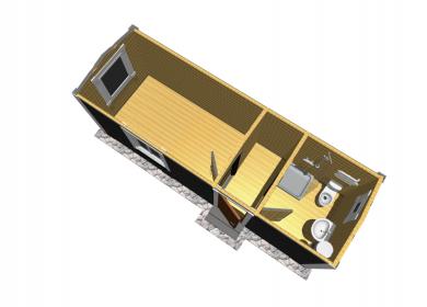 Каркасный дом с СУ 7,0х2,3