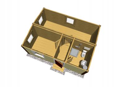 Модульный дом с СУ 6х4,6