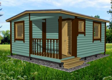 Модульный дом 5,0х4,6 с крыльцом