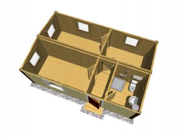 Модульный дом с СУ 7х4,6
