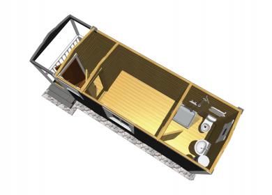 Каркасный дом с СУ 7,0х2,3 с крыльцом