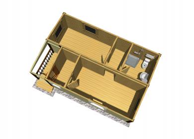 Модульный дом ПРЕМИУМ с СУ 7х4,6 с крыльцом