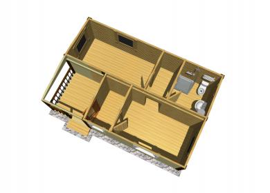 Модульный дом с СУ 7х4,6 с террасой