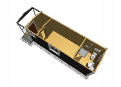 Каркасный дом с СУ 8,0х2,3 с крыльцом