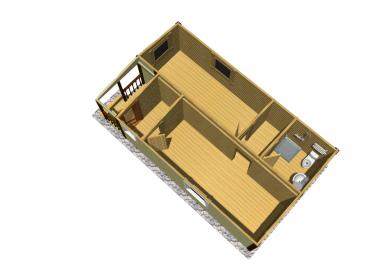 Модульный дом ПРЕМИУМ с СУ 8х4,6 с крыльцом