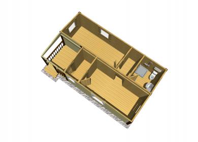 Модульный дом ПРЕМИУМ с СУ 8х4,6 с террасой