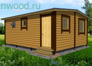 Модульный дом-баня 6х4,6
