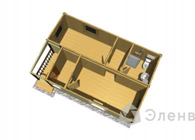 Модульный дом с СУ 7х4,6 с крыльцом