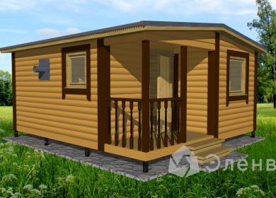 Модульный дом-баня 5х4,6 с крыльцом