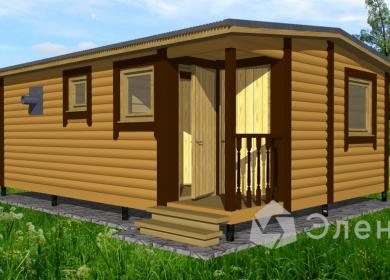 Модульный дом-баня 6х4,6 с кладовкой
