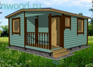 Модульный дом 5х4,6 с крыльцом