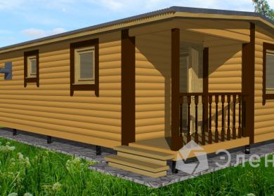 Модульный дом-баня 8х4,6 с крыльцом
