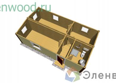 Модульный дом с СУ 8х4,6