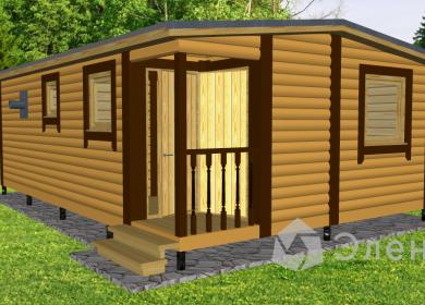 Модульный дом-баня 7х4,6 с кладовкой