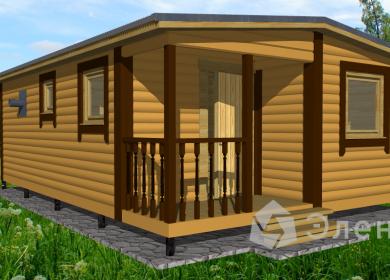 Модульный дом-баня 7х4,6 с крыльцом