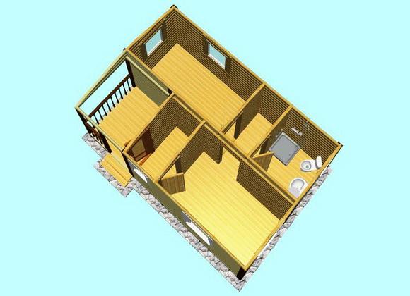 Дома модульные каркасные с сантехникой