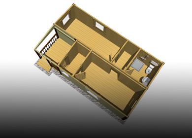 Каркасные модульные дома с сантехникой